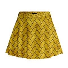 BRK2 BK-YL MARBLE (R) Mini Flare Skirt