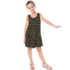 BRK1 BK-YL MARBLE Kids  Sleeveless Dress