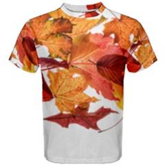 Autumn Leaves Leaf Transparent Men s Cotton Tee