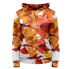 Autumn Leaves Leaf Transparent Women s Pullover Hoodie