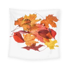 Autumn Leaves Leaf Transparent Square Tapestry (small)