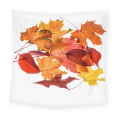 Autumn Leaves Leaf Transparent Square Tapestry (large)
