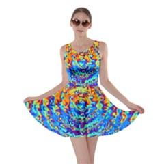 Background Color Game Pattern Skater Dress