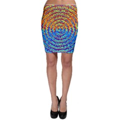 Background Color Game Pattern Bodycon Skirt