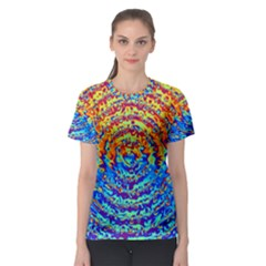 Background Color Game Pattern Women s Sport Mesh Tee