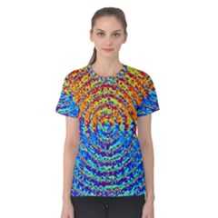 Background Color Game Pattern Women s Cotton Tee