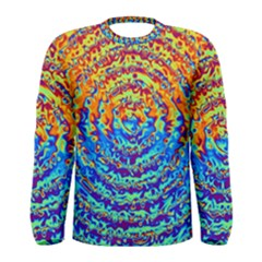 Background Color Game Pattern Men s Long Sleeve Tee