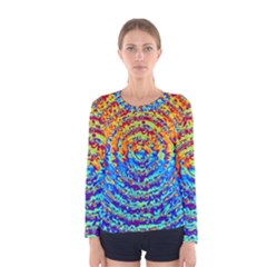 Background Color Game Pattern Women s Long Sleeve Tee