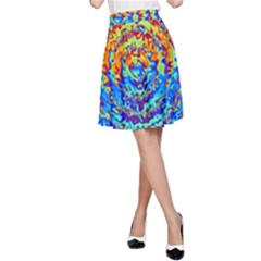 Background Color Game Pattern A Line Skirt