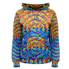 Background Color Game Pattern Women s Pullover Hoodie