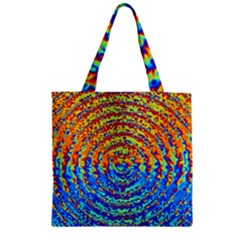 Background Color Game Pattern Zipper Grocery Tote Bag