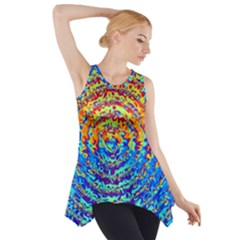 Background Color Game Pattern Side Drop Tank Tunic