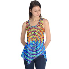 Background Color Game Pattern Sleeveless Tunic