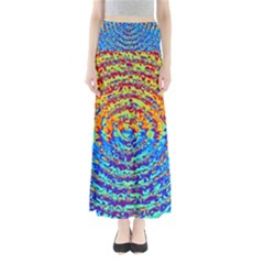 Background Color Game Pattern Maxi Skirts