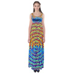 Background Color Game Pattern Empire Waist Maxi Dress