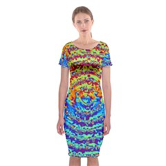 Background Color Game Pattern Classic Short Sleeve Midi Dress