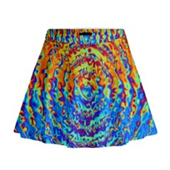 Background Color Game Pattern Mini Flare Skirt