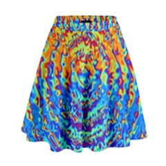 Background Color Game Pattern High Waist Skirt