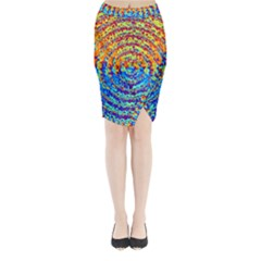 Background Color Game Pattern Midi Wrap Pencil Skirt