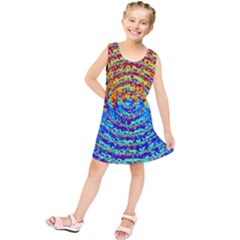 Background Color Game Pattern Kids  Tunic Dress