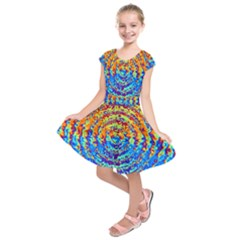 Background Color Game Pattern Kids  Short Sleeve Dress