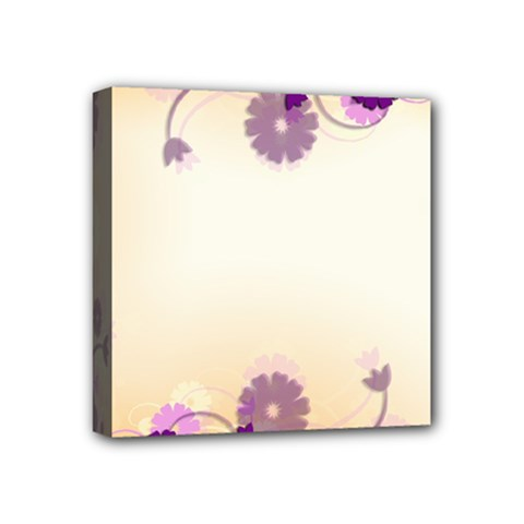 Background Floral Background Mini Canvas 4  X 4