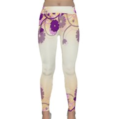 Background Floral Background Classic Yoga Leggings