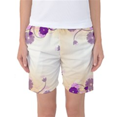 Background Floral Background Women s Basketball Shorts