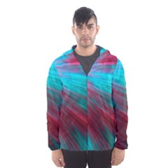 Background Texture Pattern Design Hooded Wind Breaker (men)
