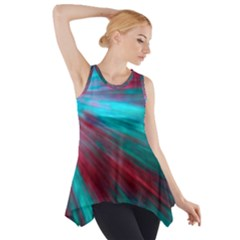 Background Texture Pattern Design Side Drop Tank Tunic