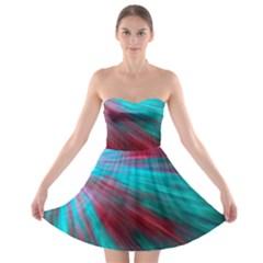 Background Texture Pattern Design Strapless Bra Top Dress