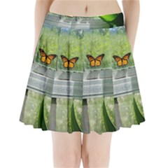 Butterfly #17 Pleated Mini Skirt