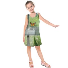 Butterfly #17 Kids  Sleeveless Dress