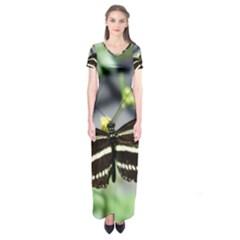 Butterfly #22 Short Sleeve Maxi Dress