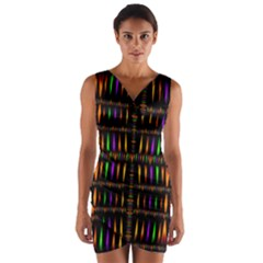 On Fire Wrap Front Bodycon Dress