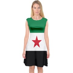 Flag of Syria Capsleeve Midi Dress