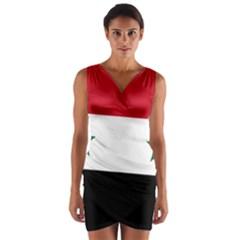 Flag of Syria Wrap Front Bodycon Dress