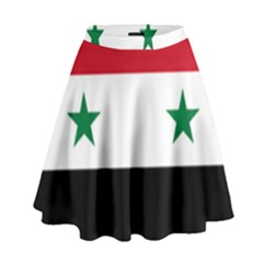 Flag of Syria High Waist Skirt
