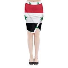 Flag of Syria Midi Wrap Pencil Skirt
