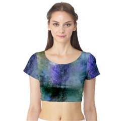 Background Texture Structure Short Sleeve Crop Top (tight Fit)