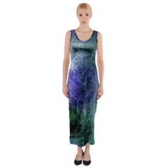 Background Texture Structure Fitted Maxi Dress