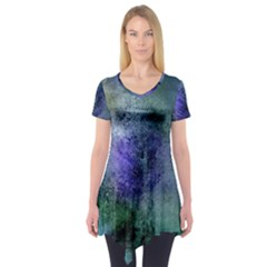Background Texture Structure Short Sleeve Tunic