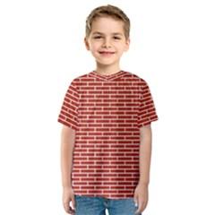 Brick Lake Dusia Texture Kids  Sport Mesh Tee