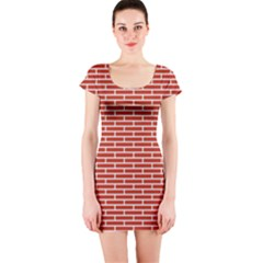Brick Lake Dusia Texture Short Sleeve Bodycon Dress