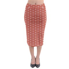Brick Lake Dusia Texture Midi Pencil Skirt