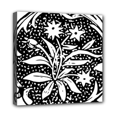 Decoration Pattern Design Flower Mini Canvas 8  X 8