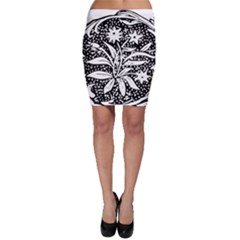 Decoration Pattern Design Flower Bodycon Skirt