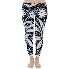 Decoration Pattern Design Flower Classic Winter Leggings