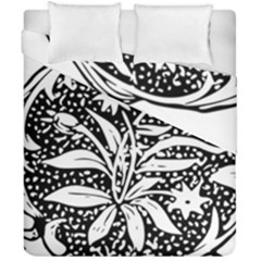 Decoration Pattern Design Flower Duvet Cover Double Side (california King Size)