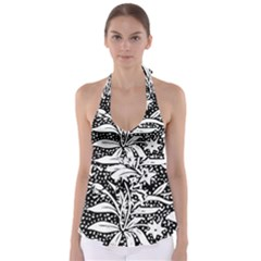Decoration Pattern Design Flower Babydoll Tankini Top
